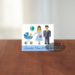 Marturie magnet nunta si botez 2 in 1 roz - Altfeldeinvitatii.ro