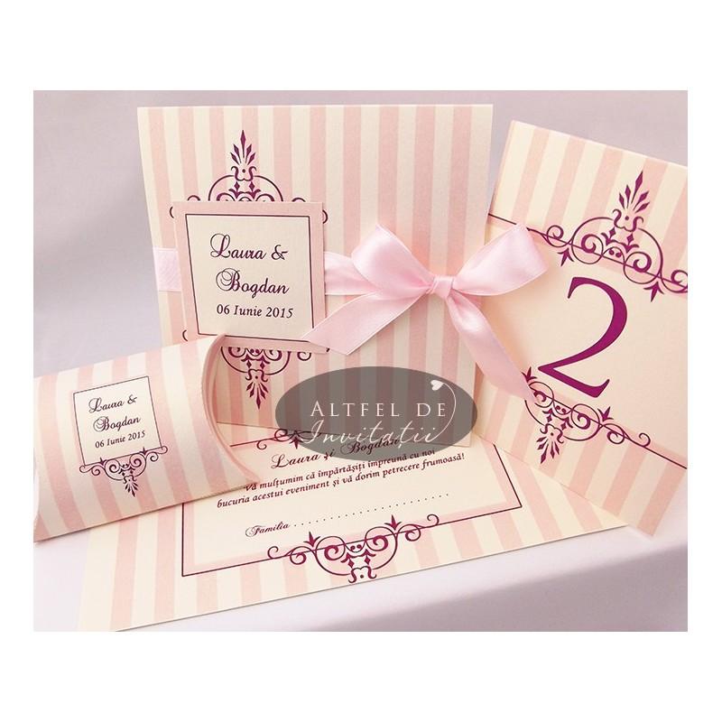Set complet nunta Ciocozmeura roz - Altfeldeinvitatii.ro
