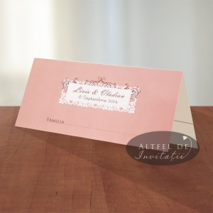 Place card nunta Vals vienez - plic de bani - Altfeldeinvitatii.ro