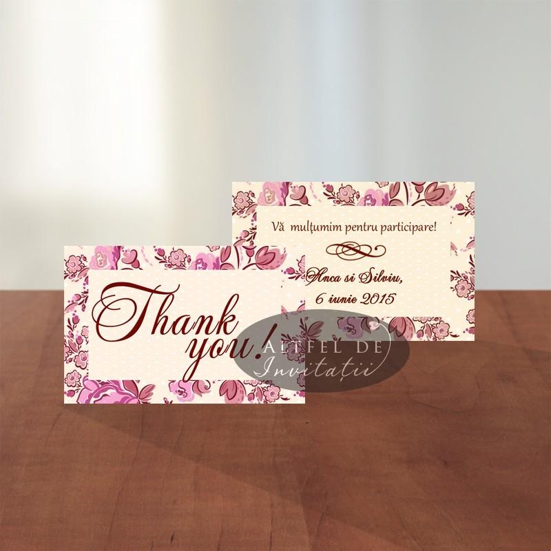 Card de multumire nunta Prima intalnire - Altfeldeinvitatii.ro
