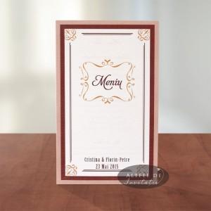 Meniu nunta glamour Inima ta