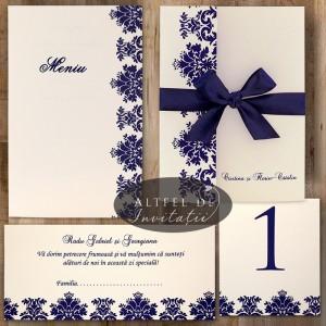Set complet papetarie nunta Contraste - Altfel de invitatii
