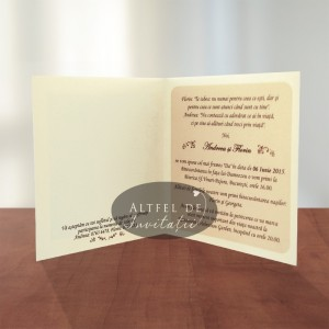 Invitatii nunta Cafea cu zahar - Altfel de invitatii