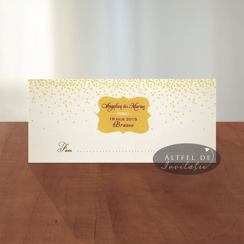 Place card Sampanie si Papioane - altfel de invitatii