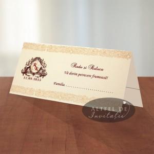 Place card de nunta Ziua asteptata - altfeldeinvitatii