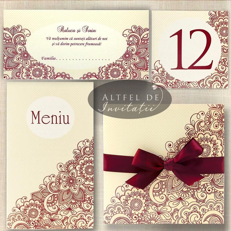 Papetarie de nunta Viata in roz