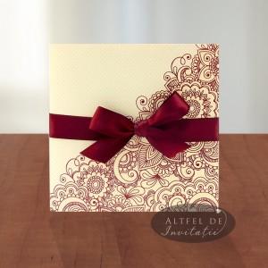 Invitatii nunta viata in roz - altfel de invitatii