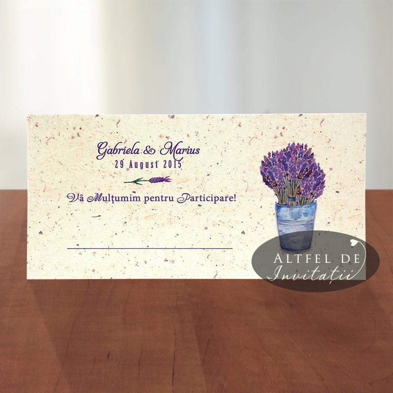 Place card nunta - Levantica - plic da bani nunta