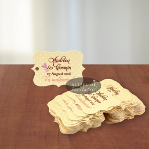 Eticheta speciala nunta Dorinta mea - Altfel de invitatii