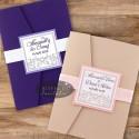Invitatii nunta Vis violet - altfel de invitatii