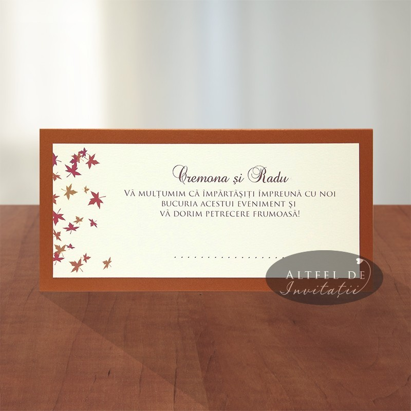 Place card nunta Toamna