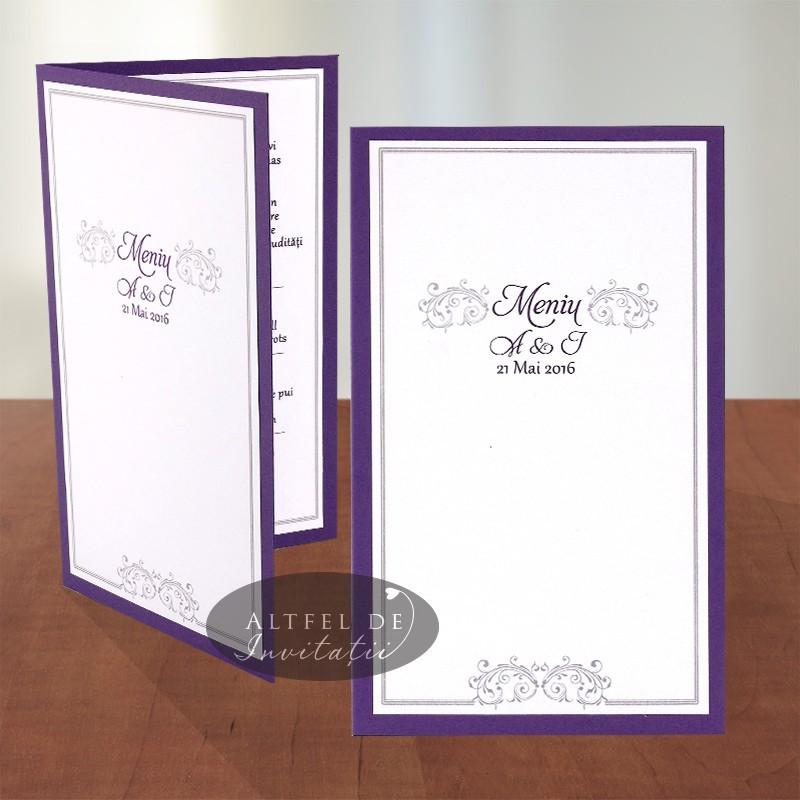 Meniu nunta Vis Violet