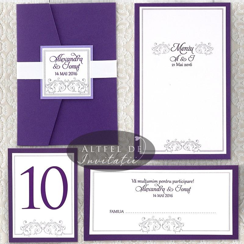 Set complet papetarie nunta Vis Violet