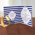 Invitatie nunta Marina navy - Altfeldeinvitatii.ro