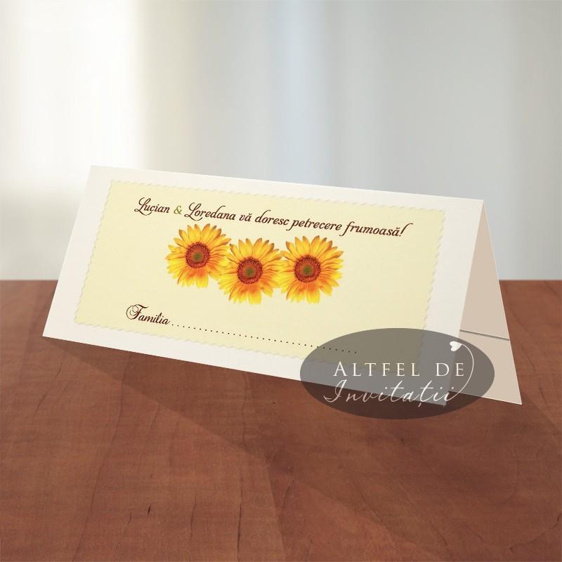 Plic de bani Floarea soarelui - altfeldeinvitatii