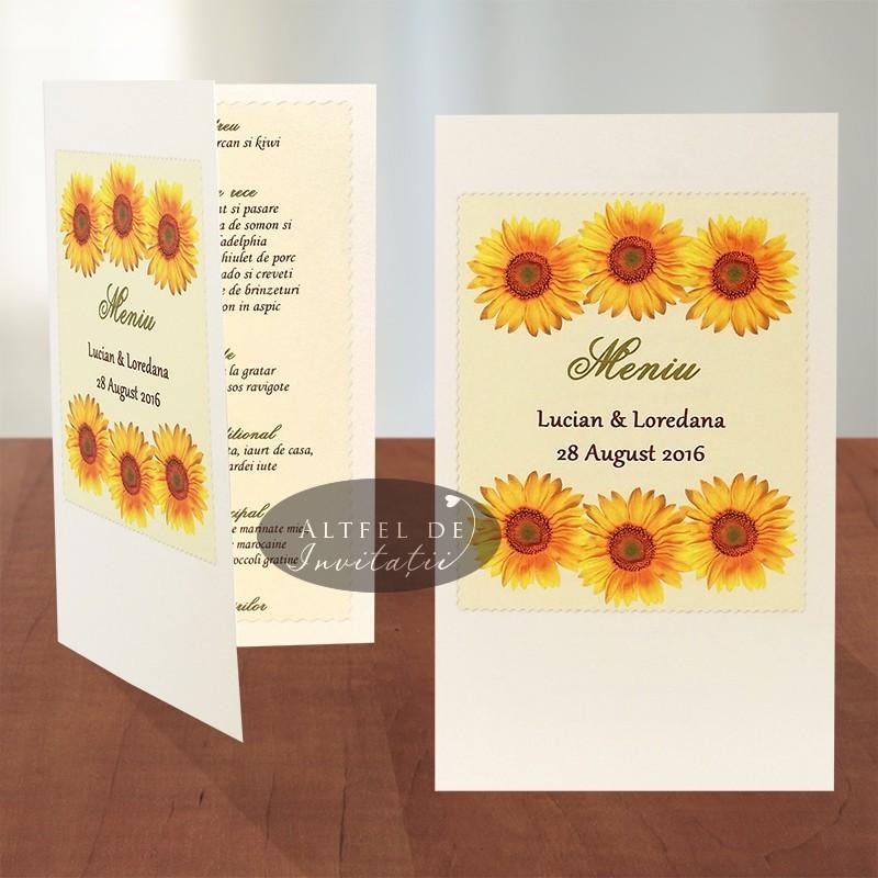 Meniu Floarea soarelui - altfeldeinvitatii