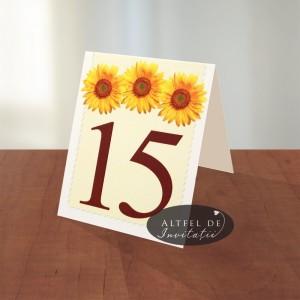 Numar de masa Floarea soarelui - altfeldeinvitatii
