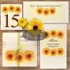 Set complet papetarie nunta Floarea soarelui - altfeldeinvitatii