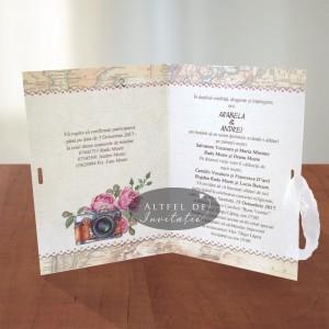 Invitatii nunta Voiaj vintage - altfel de invitatii