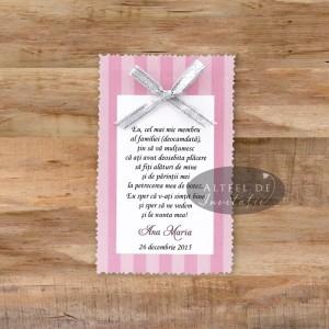 Card de multumire botez roz