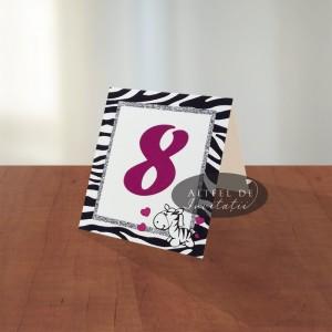 Numar masa botez Zebra