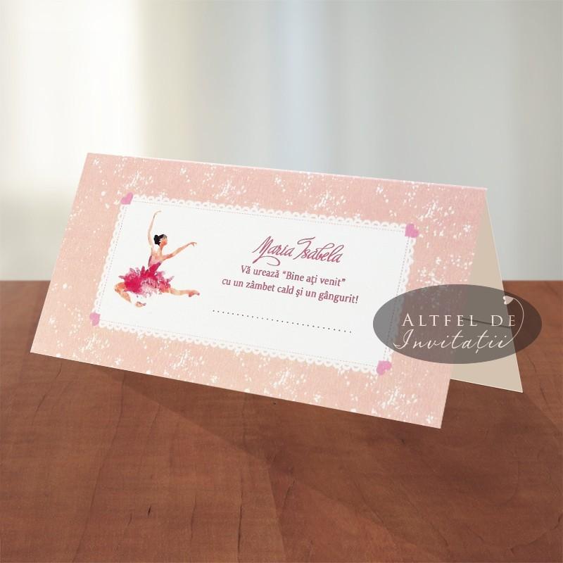 Place card Balerina