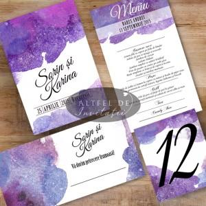 Set complet papetarie nunta Acuarela