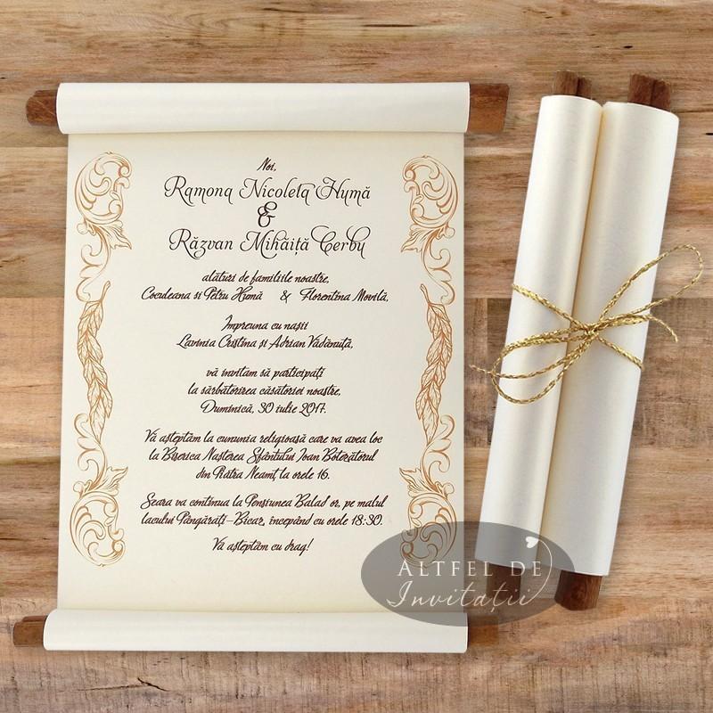 Invitatii nunta Exclusiv handmade