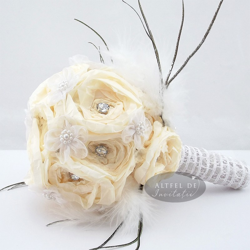 Buchet decorativ nunta flori de hartie