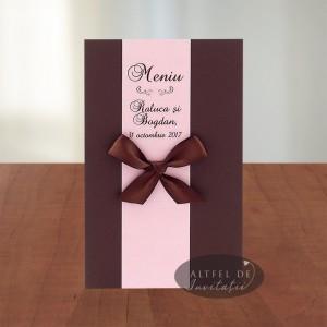 Meniu Nunta de vis A034 maro-roz