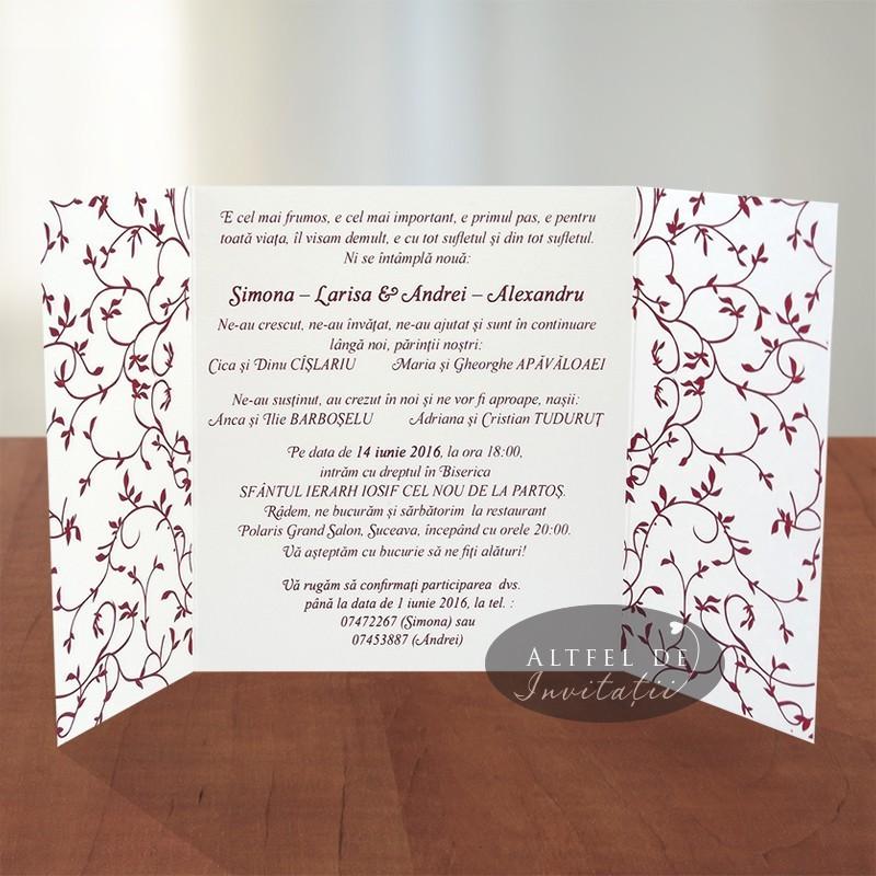 Invitatie nunta Simfonie armonioasa grena