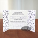 Invitatie nunta Simfonie armonioasa mov