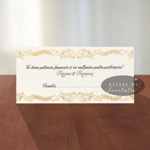 Place card nunta Exclusiv handmade