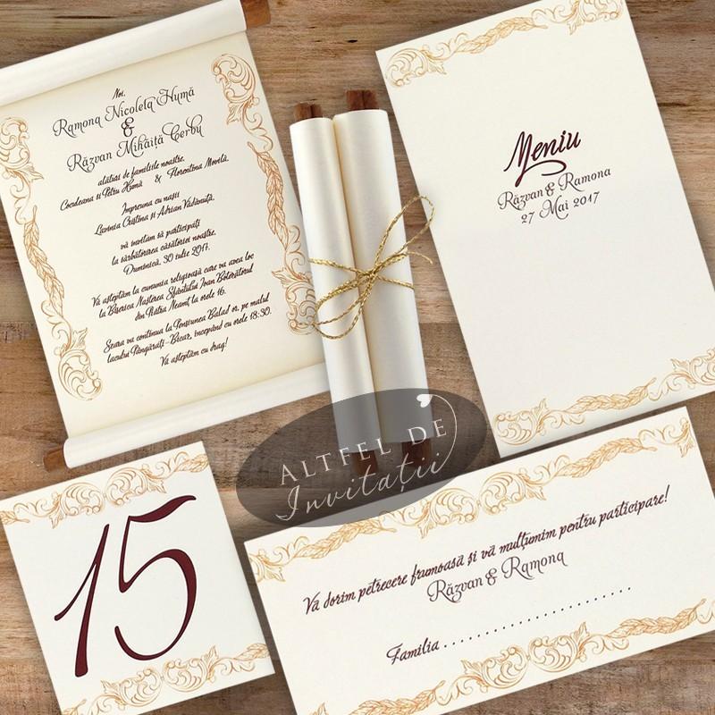 Set complet papetarie nunta Exclusiv handmade