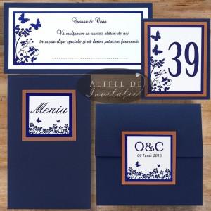 Set complet papetarie nunta Un nou inceput albastru