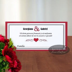Place card nunta Happy end