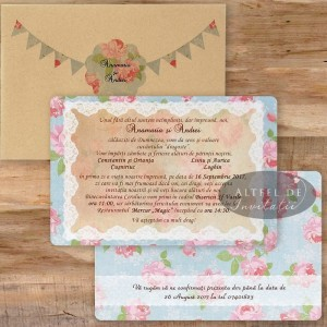 Invitatie Retro chic CN2