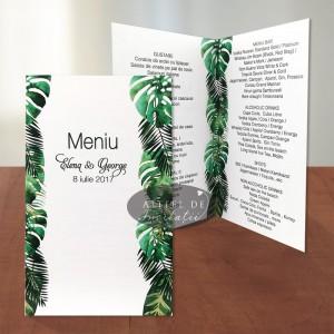 Meniu nunta Padure tropicala
