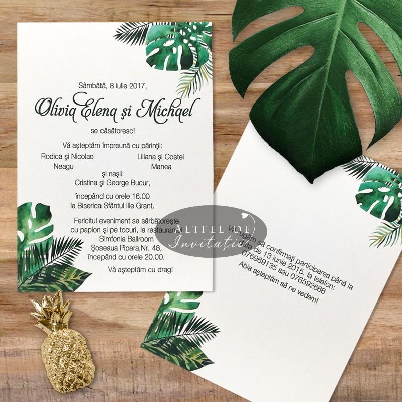 Invitatie nunta Padure tropicala