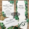 Set complet papetarie nunta Padure tropicala