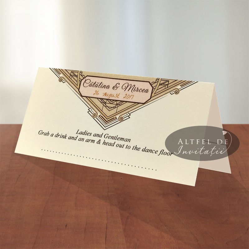 Place card Glamour