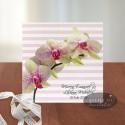 Invitatie orhidee CN14 alb-roz-verde