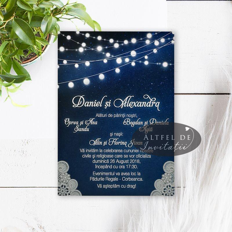 Invitatie nunta Cer instelat