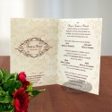 Invitatie nunta Masti venetiene initiale