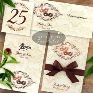 Set complet papetarie nunta Masti Venetiene