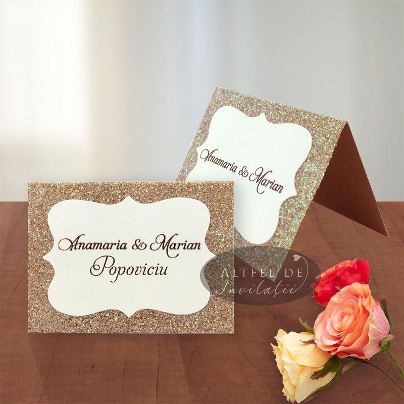 Card de asezare Eleganta simpla