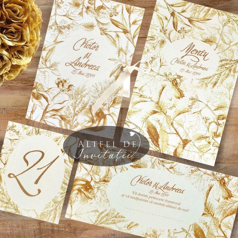 Set complet nunta Sarutul soarelui auriu