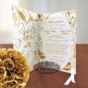 Invitatie nunta Sarutul soarelui auriu
