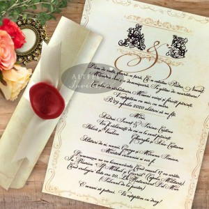 Invitatie nunta Mesaj handmade