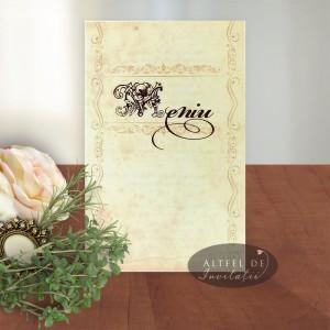Meniu nunta Mesaj handmade